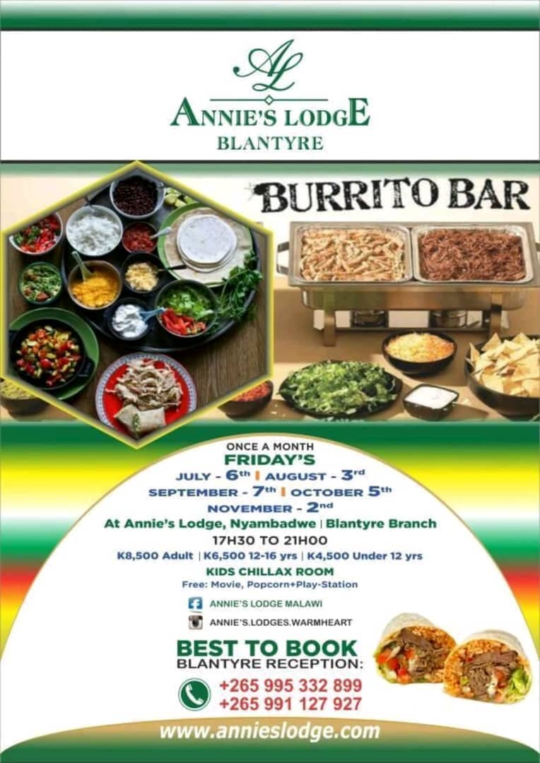 Family fun – Burrito Bar – Once a month