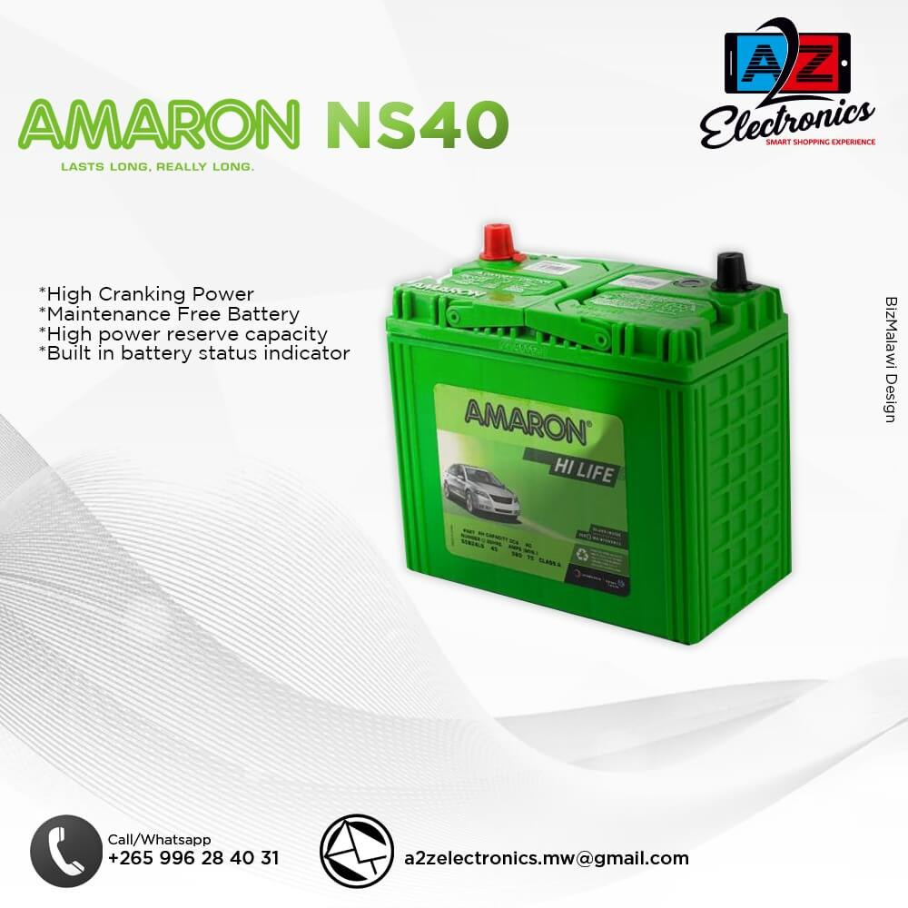 AMARON NS40 BATTERY AVAILABLE
