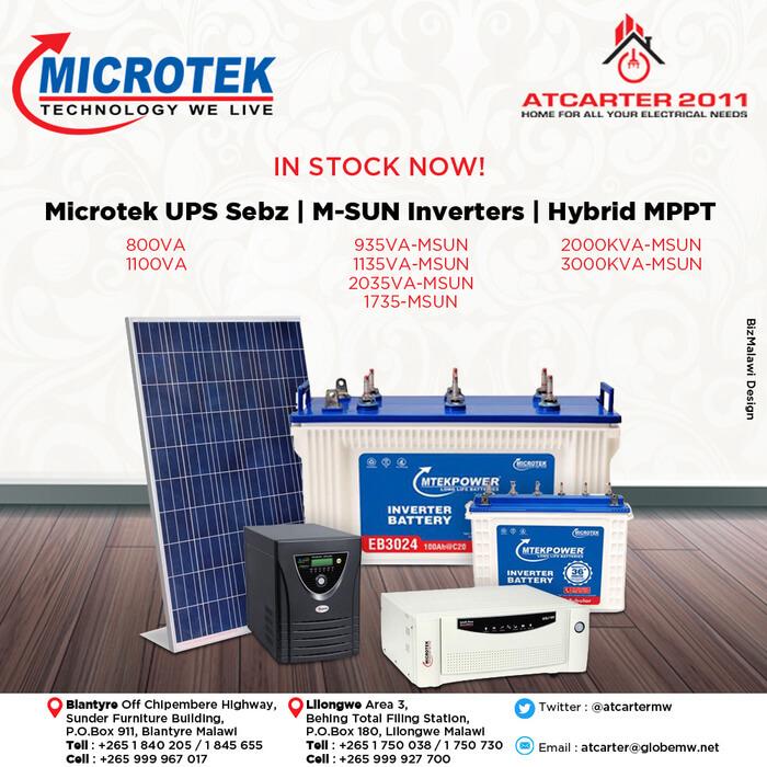 Microtek Solar Hybrid Inverters In Stock...