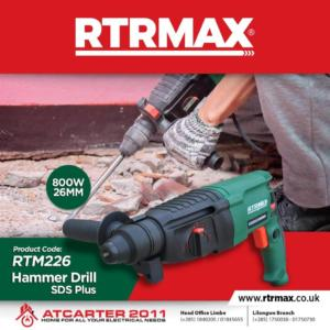 RTRMAX Hammer Drill Power Tool Avai...