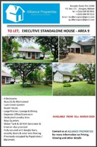 Executive StandAlone House To Let -...