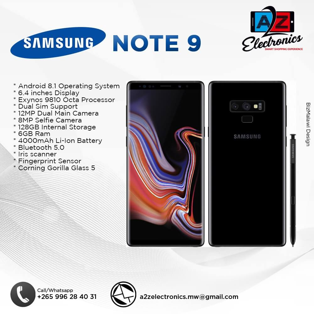 NOTE 9 Available With Us