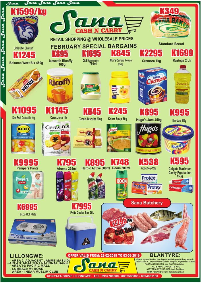 Month End Specials...