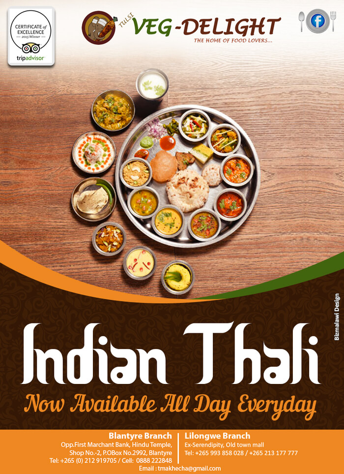 Indian Thali Available All Day Ever...