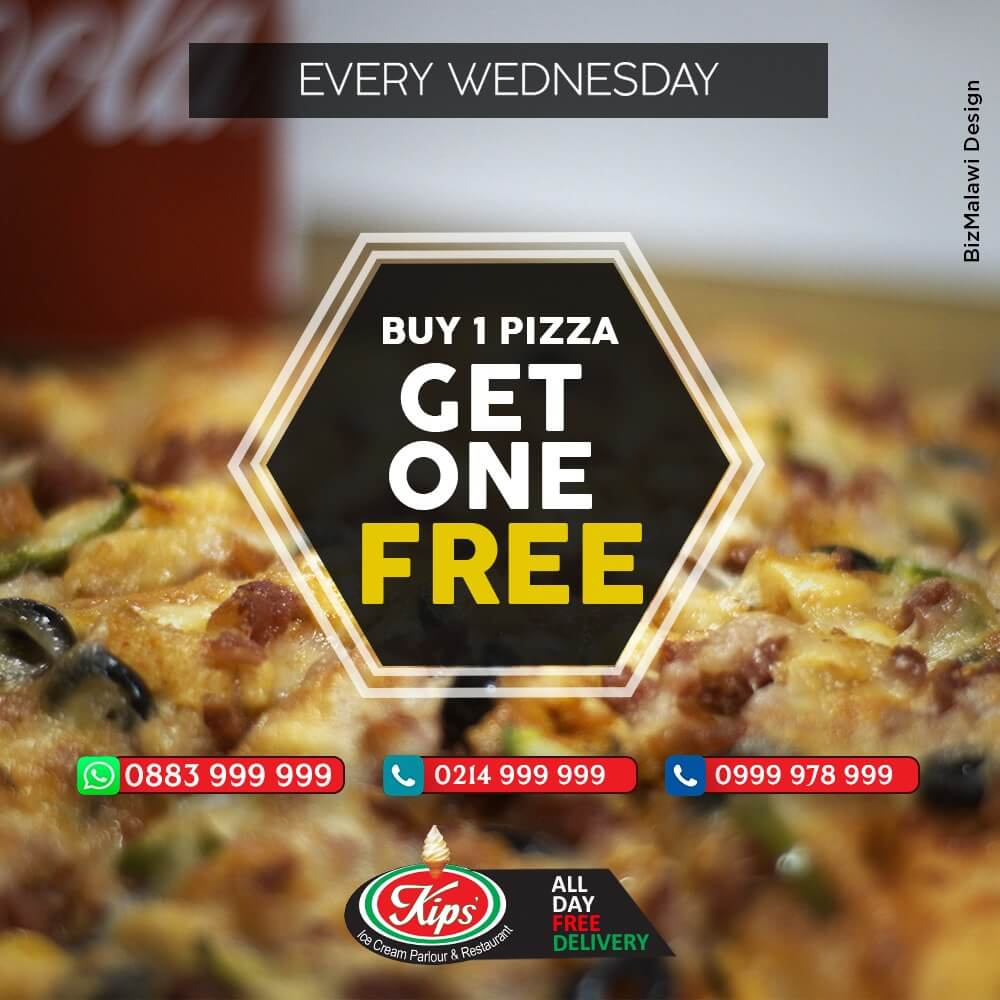 Buy One Pizza Get One Free Every We...