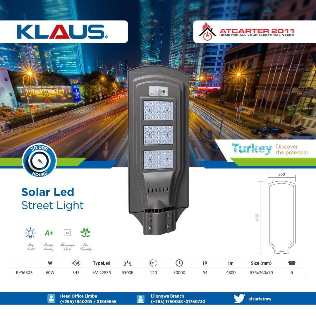 KLAUS Solar LED Street Lights Available ...