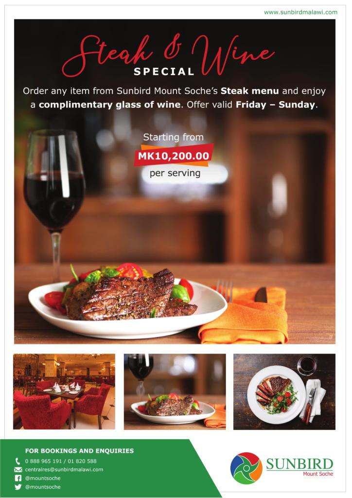 Steak & Wine Special...