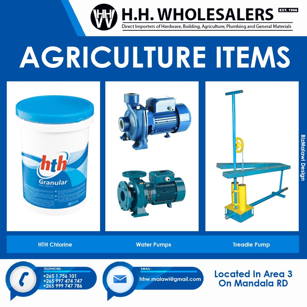 We Have Agriculture Items Available...