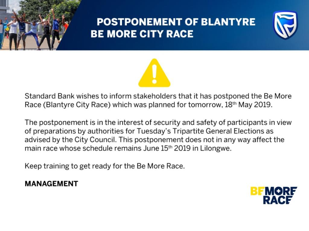 Please Note The Postponing of Be...