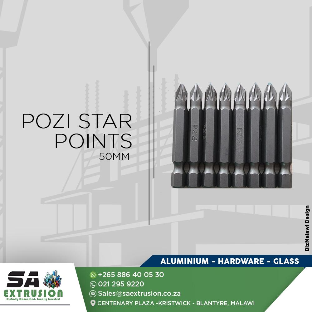 Pozi Star Points .  50mm...
