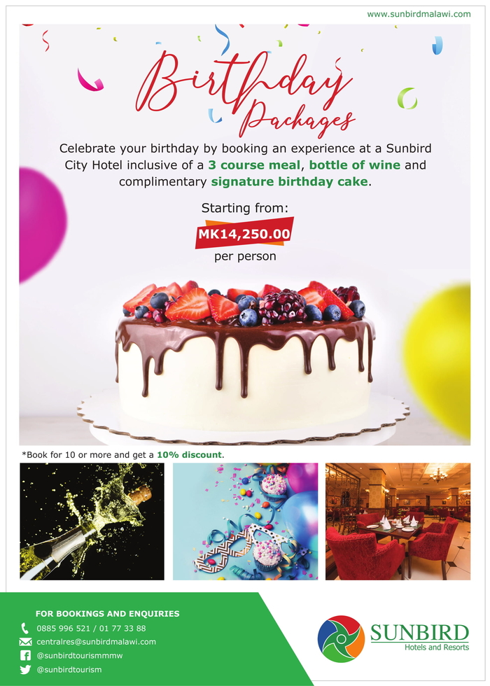 Celebrate Your Birthday With Sunbird...