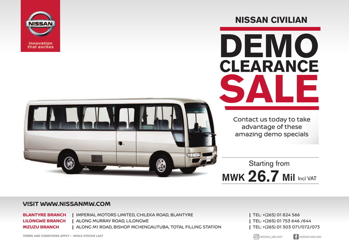 Nissan Civilian Demo Clearance Sale...