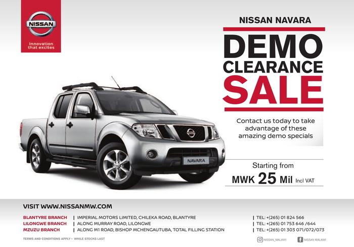 Demo Clearance Sale...