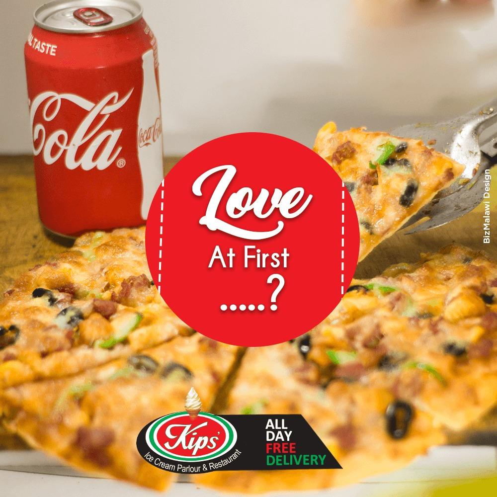 Love at first. #KipsRestaurant#Malawi...