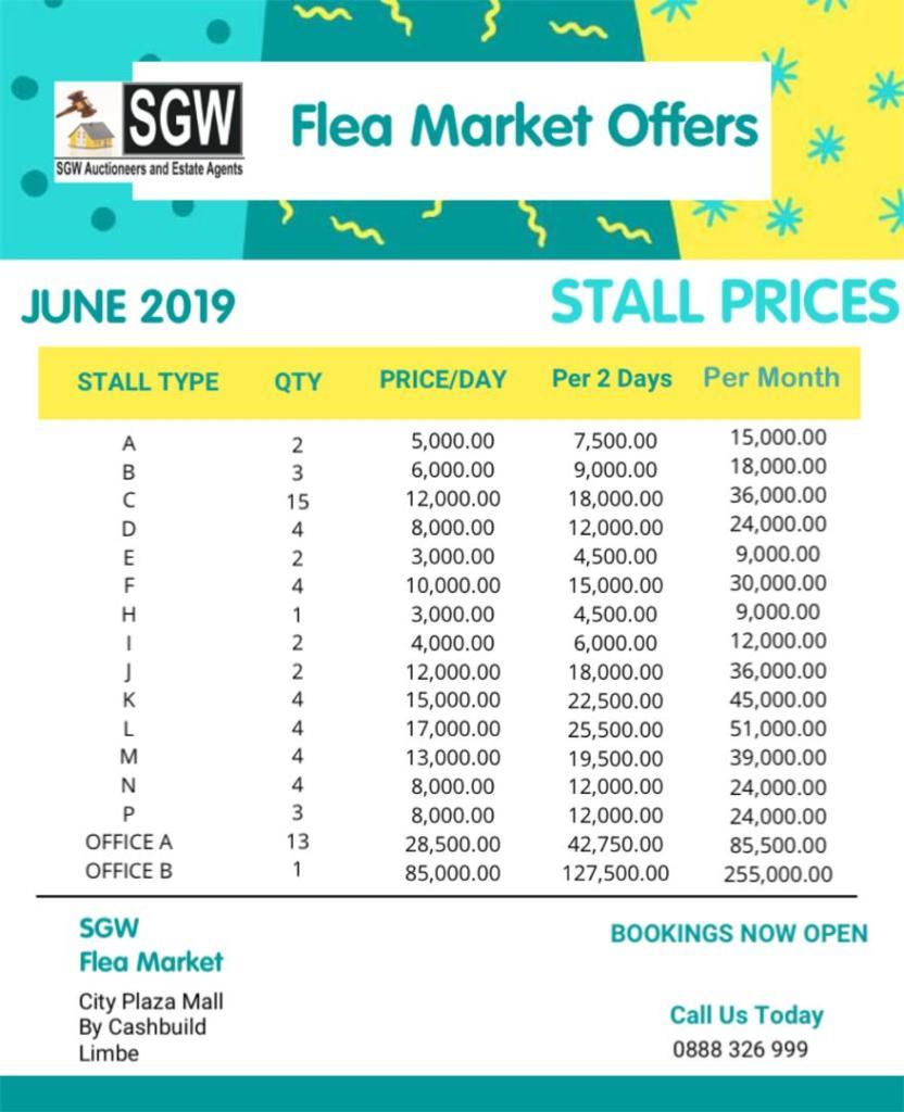 Flee Market Offers...