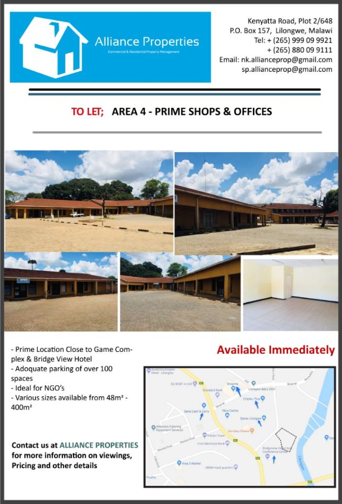Prime Shops & Offices To Let - Area ...