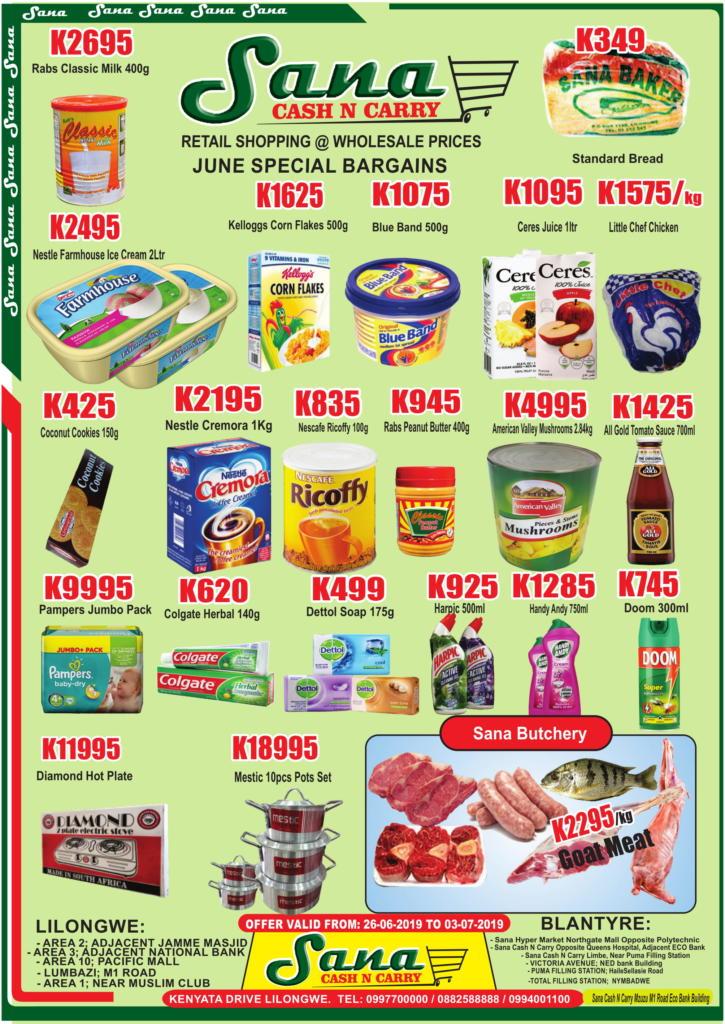 June Special Bargains...