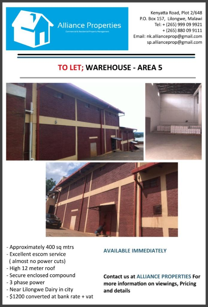 Warehouse To Let - Area 5