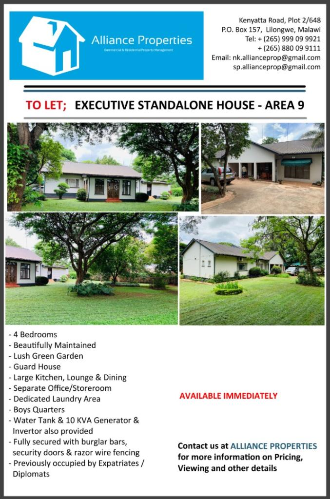 Executive Stand-Alone House To Let - Are...