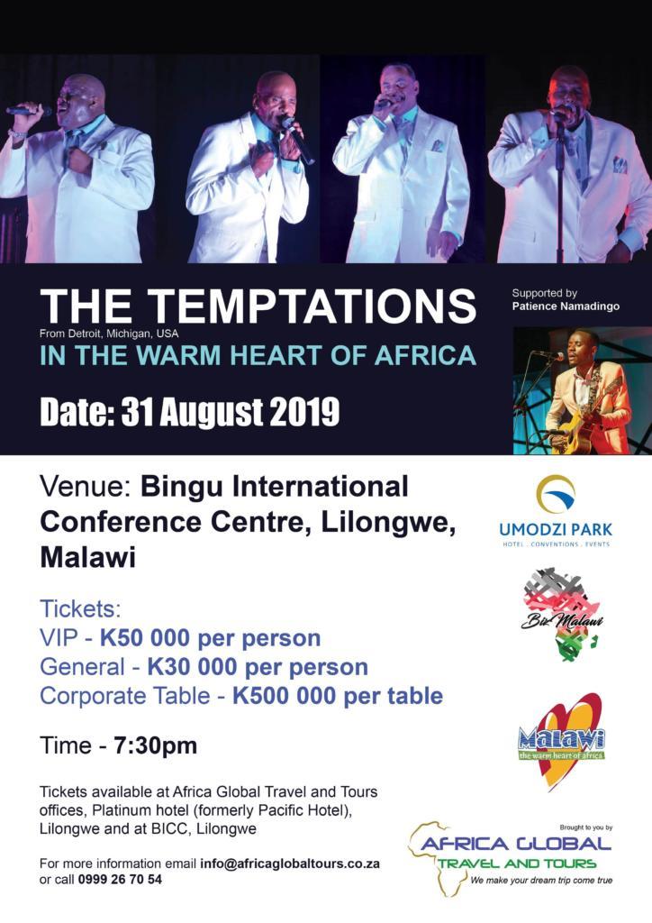 TheTemptationsLive In Malawi...