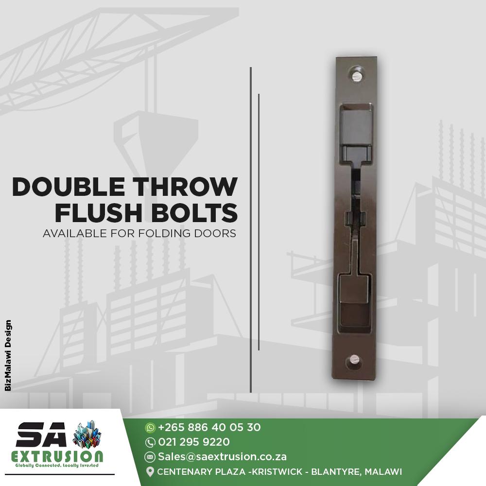 Double Throw Flush Bolts...