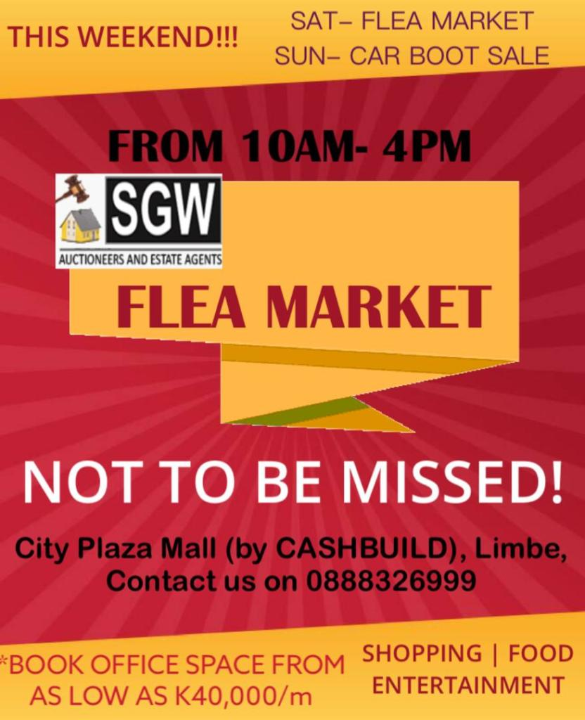 The SGW Flea Market is On this weekend!