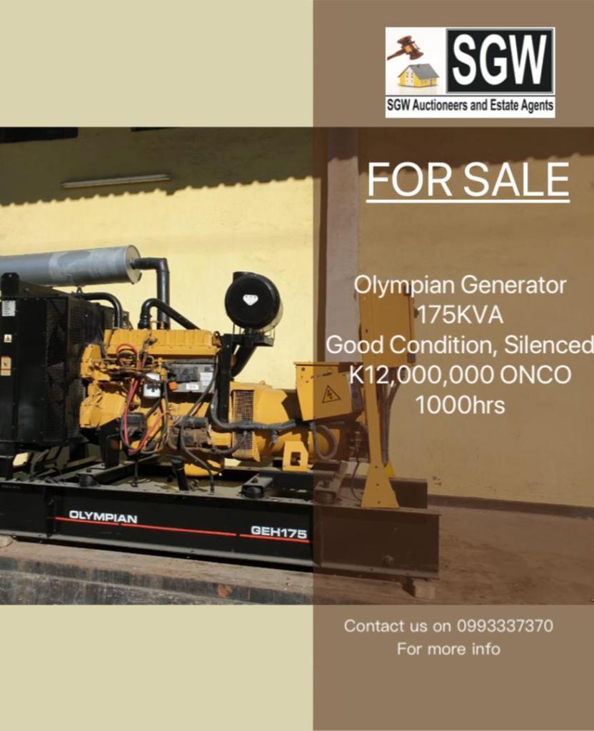 For sale Olympian Generator 175KVA ...