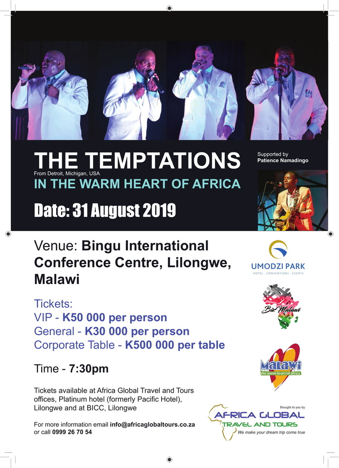 The Temptations Live In Malawi...