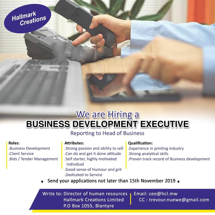 Business Development Executive...