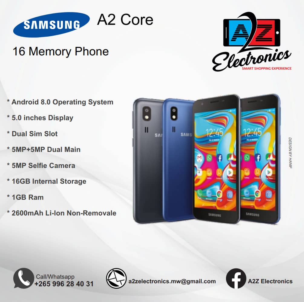 Samsung A2 Core LOCATION: HAYYAT COMPL...