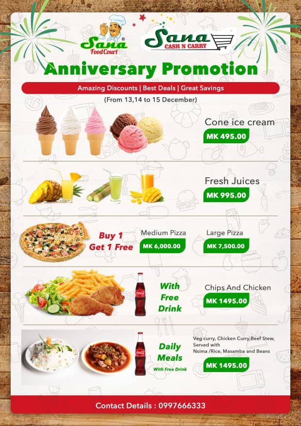 Anniversary Promotion...