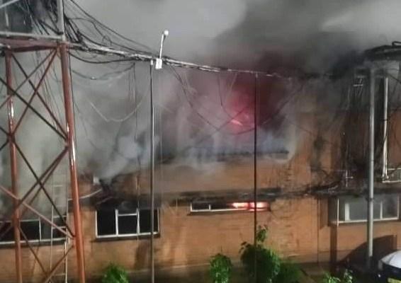 MTL FIRE DISRUPTS TV/RADIO STA...