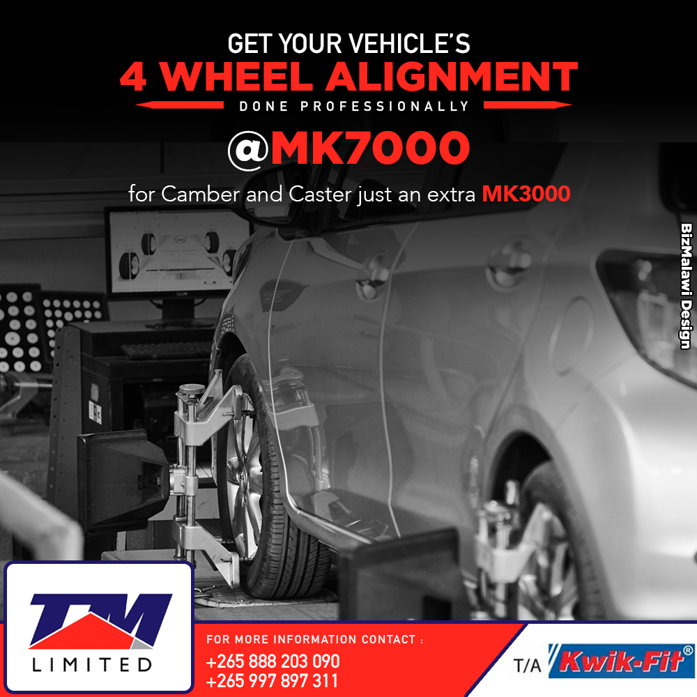Get Your 4 Wheel Alignment Done Today At...