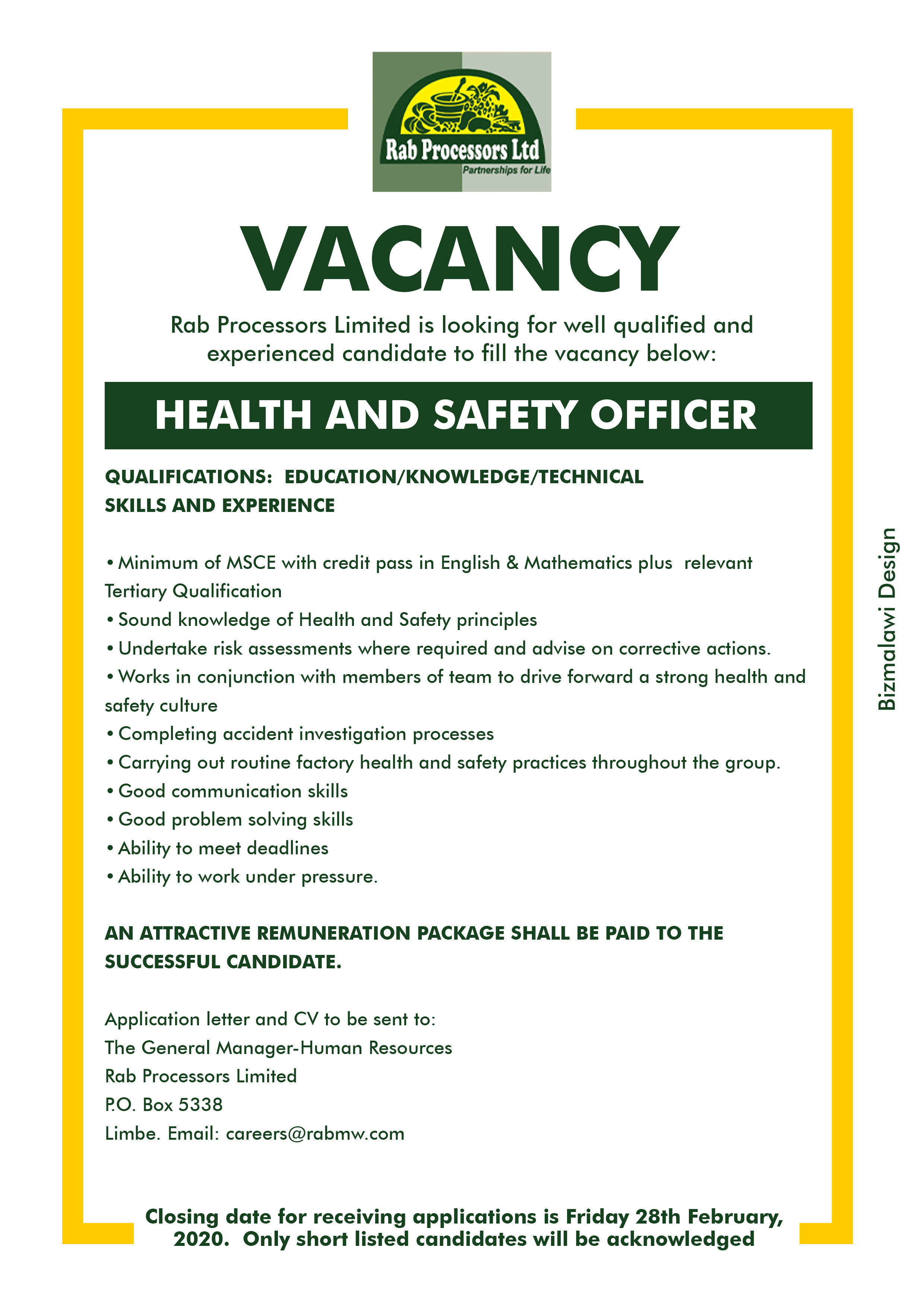 Rab Processors Limited is looking for we...
