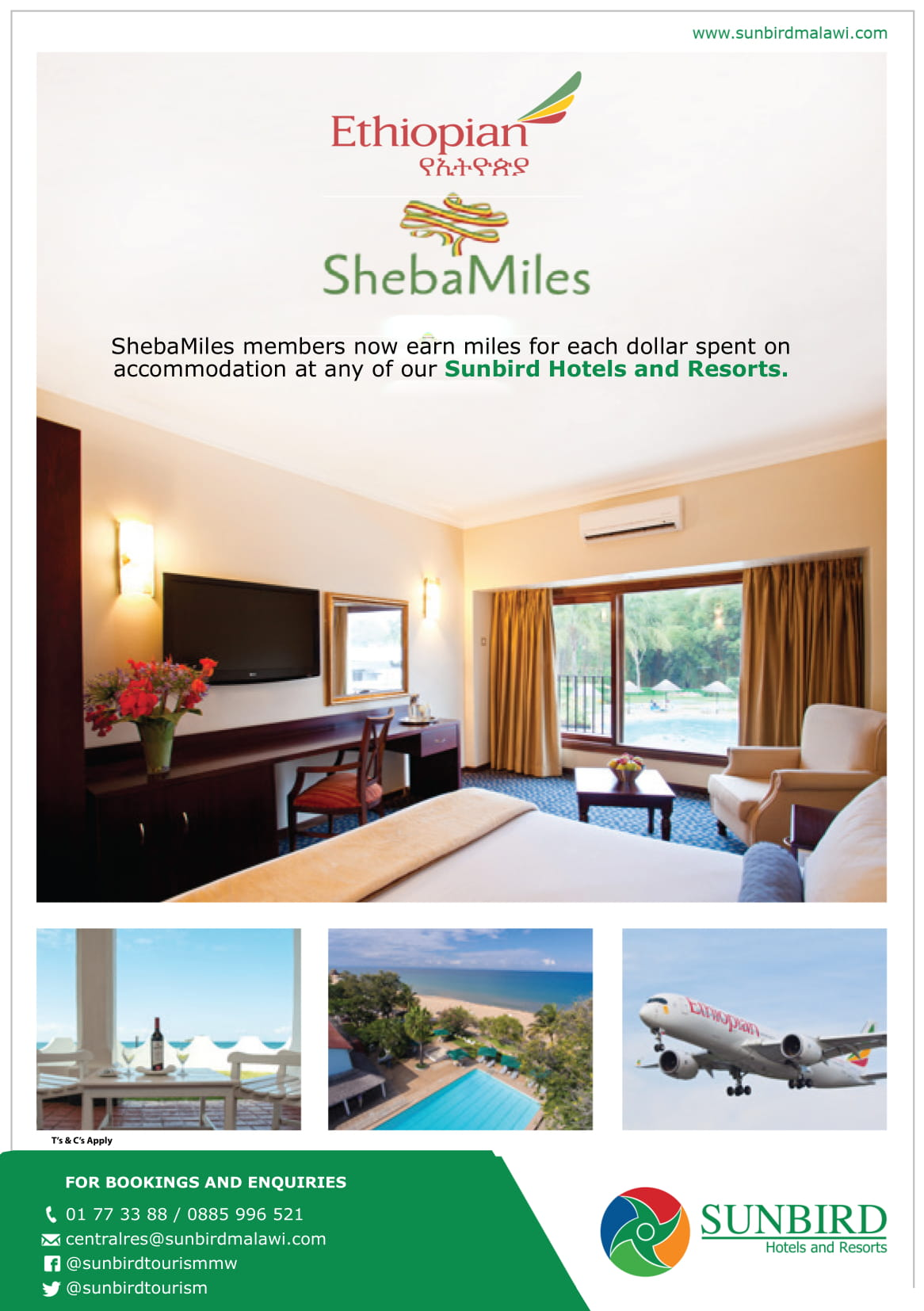 Earn Sheba Miles When You Stay At Sunbir...