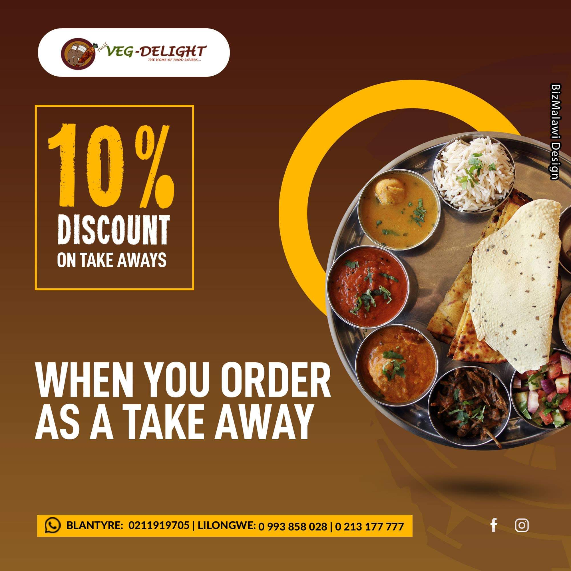 10% Off On Takeaways...