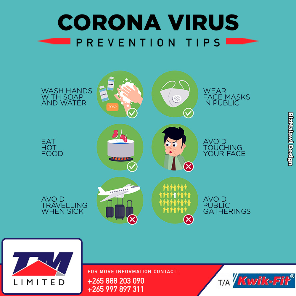 COVID-19 Prevention Tips...