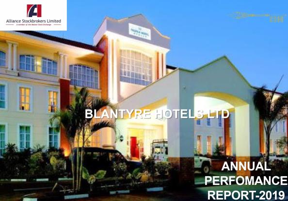 BLANTYRE HOTELS POSTS K466m PR...