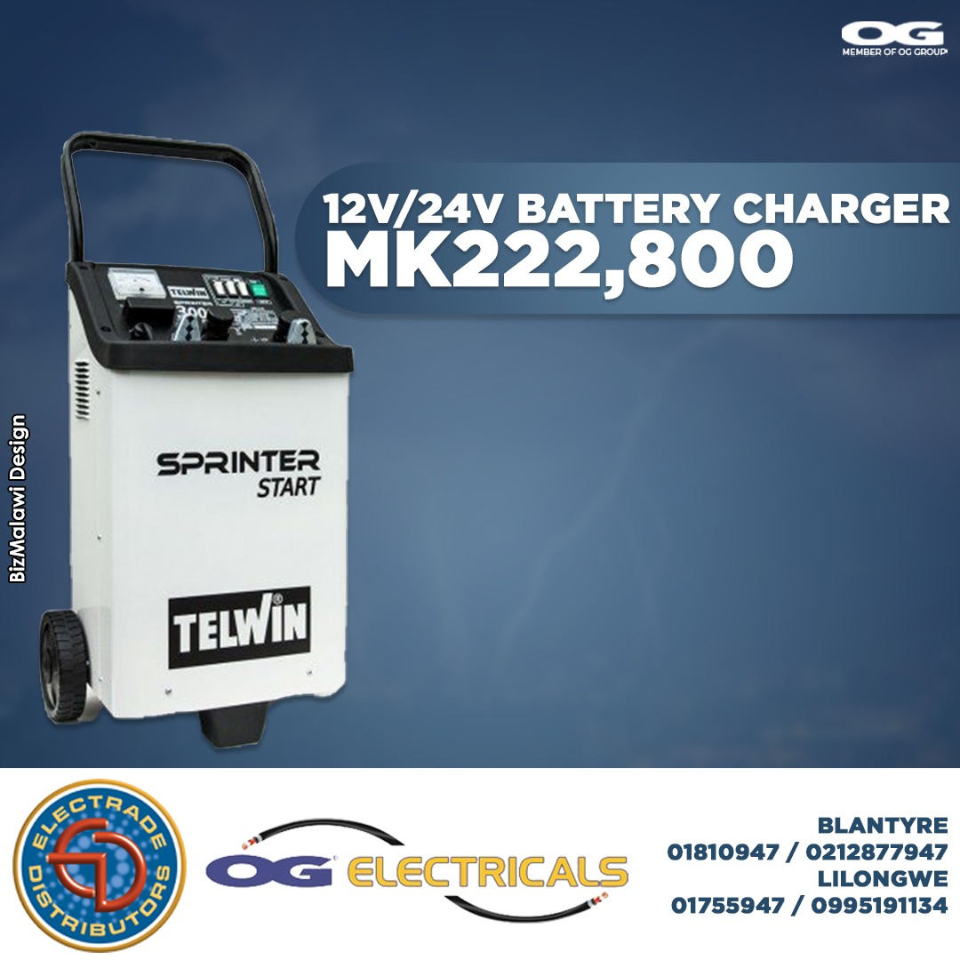 12V/24V battery charger available at OG ...