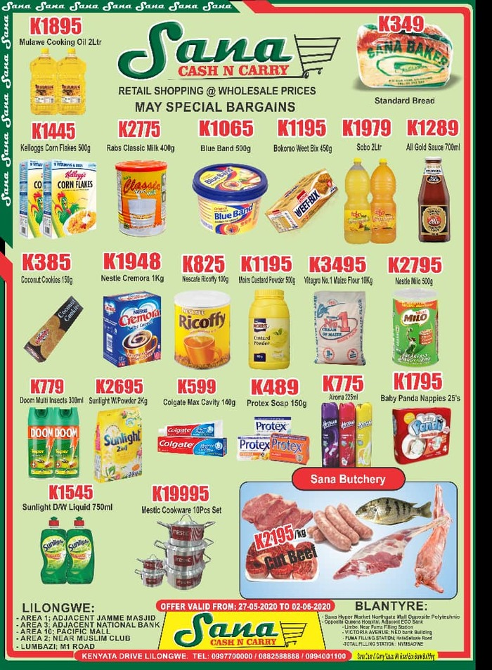 May Special Bargains ...