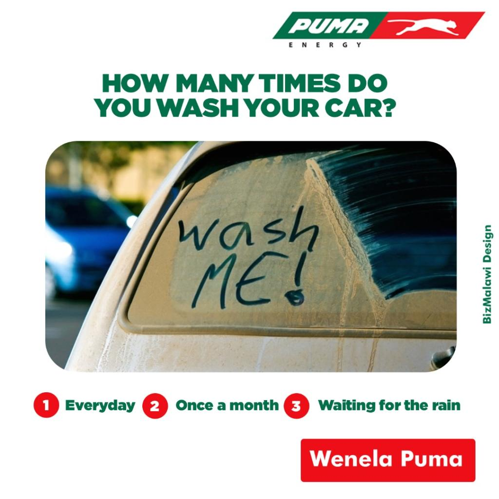 1. You love washing your car everyday 