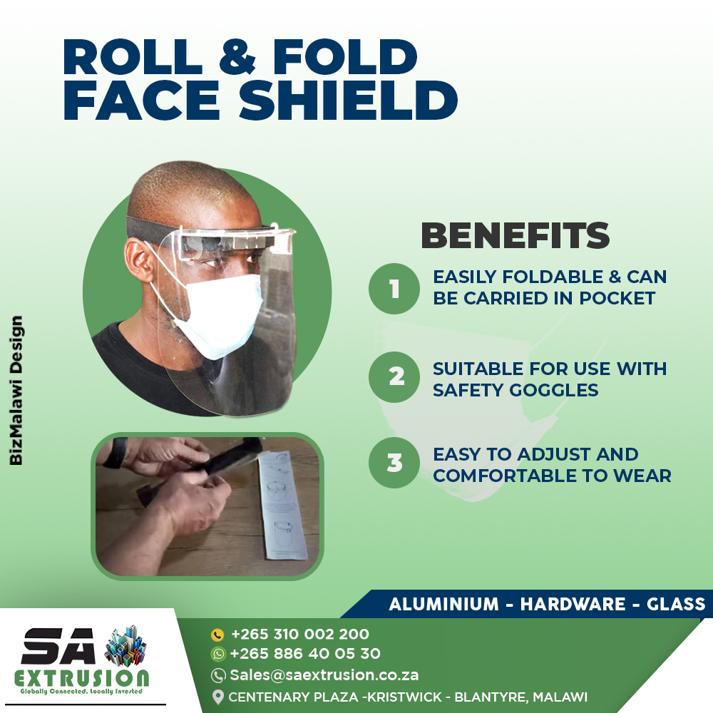 Roll & Fold Face Shields now readily...