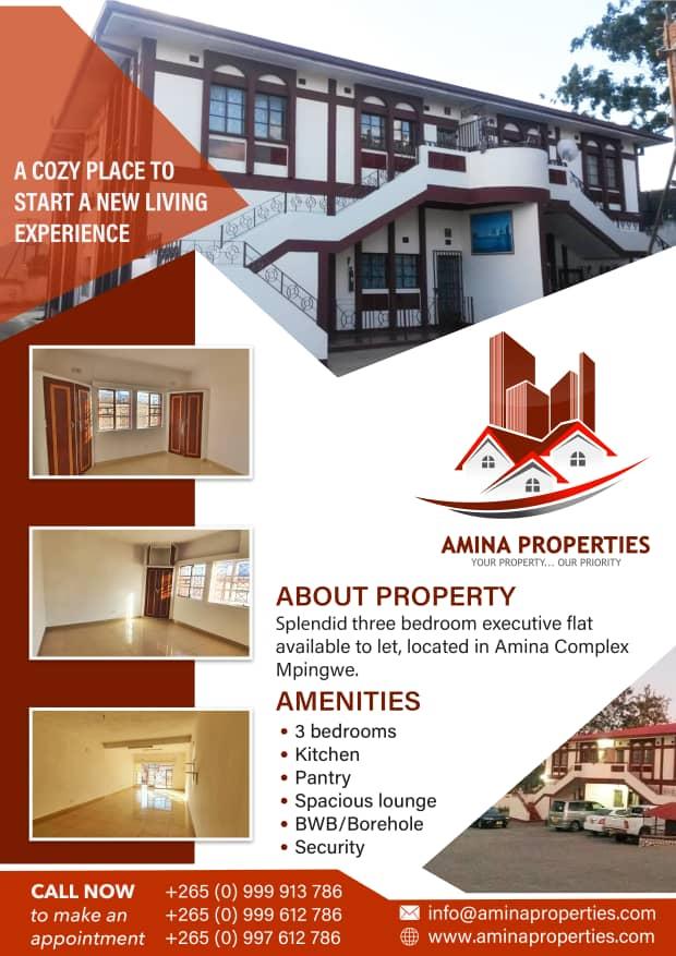 Amina Properties Flat To Let...