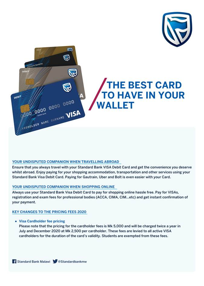 STANDARD BANK REVISES VISA CAR...