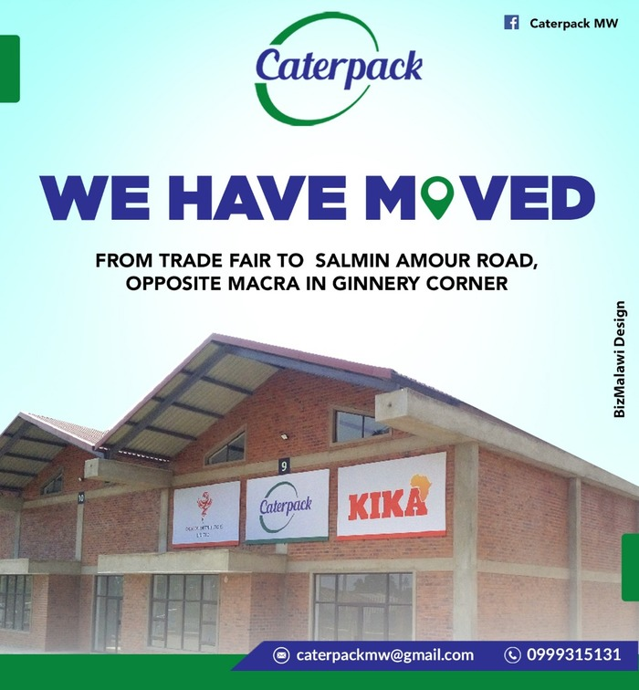 Caterpack Malawi We Have Moved...