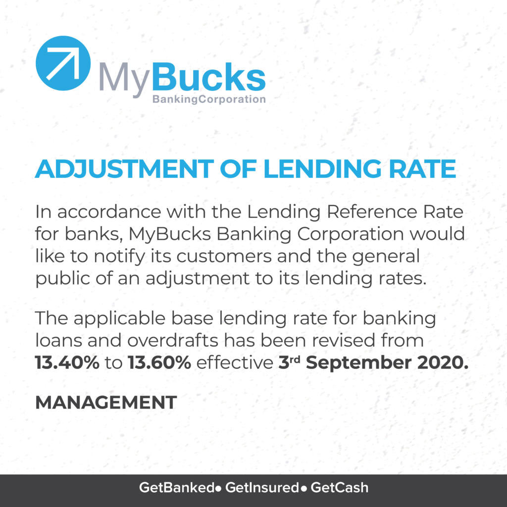 ADJUSTMENTS OF LENDING RATE