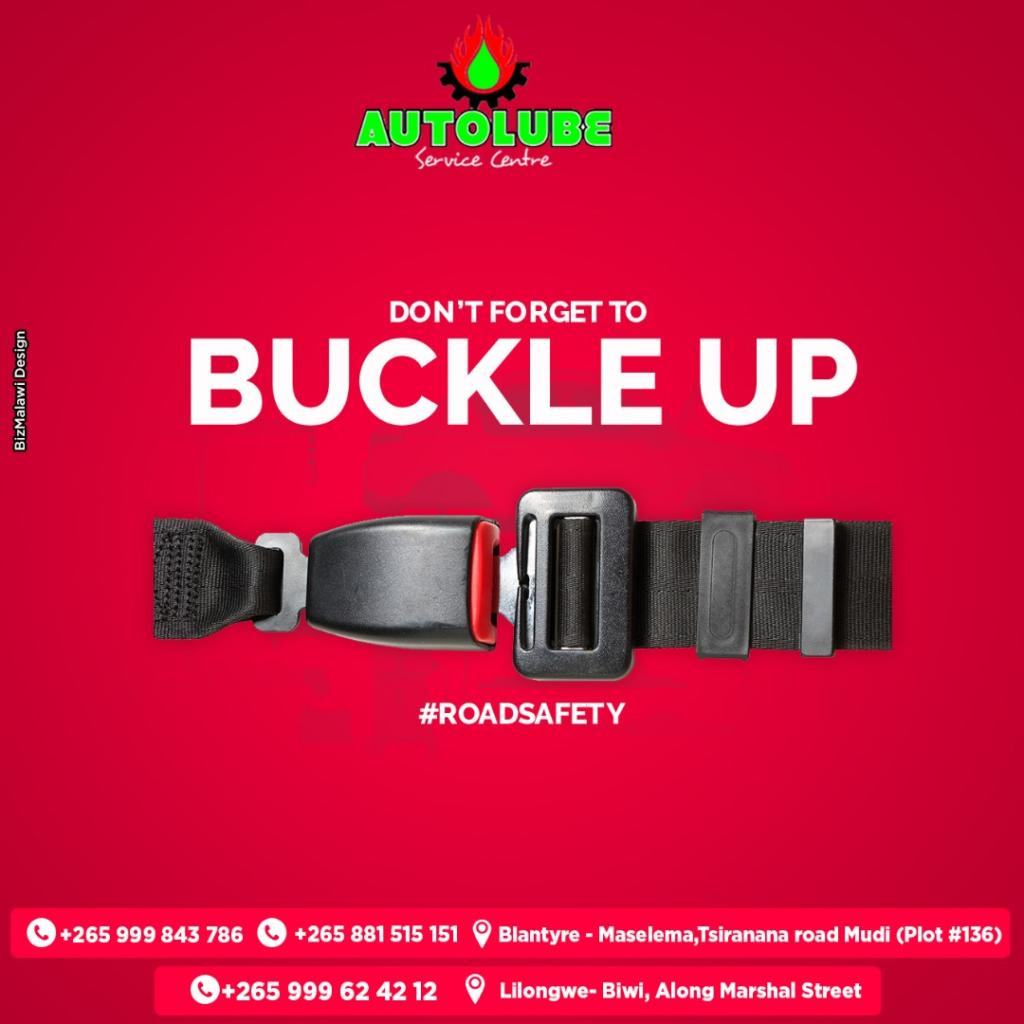 Stay safe, don't forget to BUCKLE UP. ...