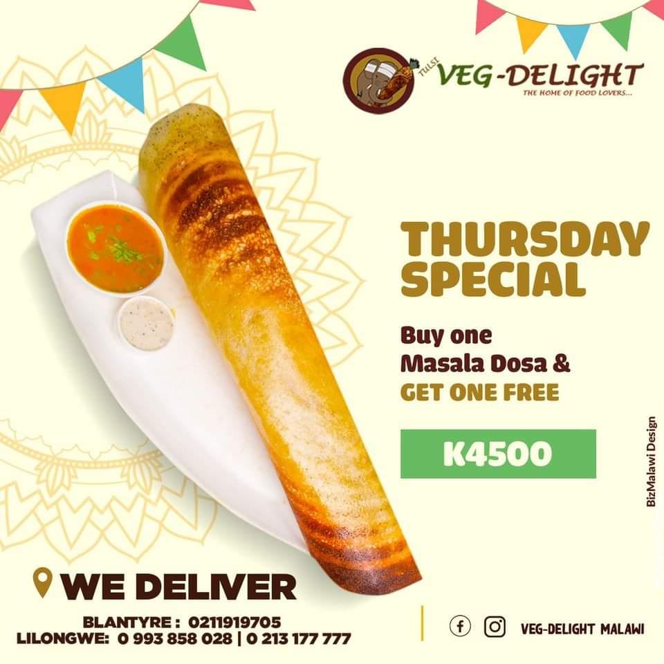 Veg Delight Thursday Special...