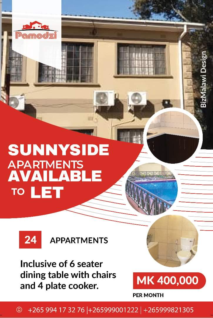 Pamodzi Sunnyside Apartments To Let...