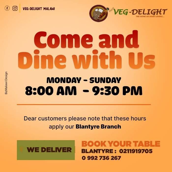 Veg Delight Kindly Note...